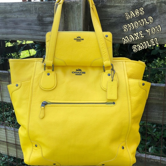 Coach Handbags - Coach 34039 Canary Yellow Mickie Bag and Wallet